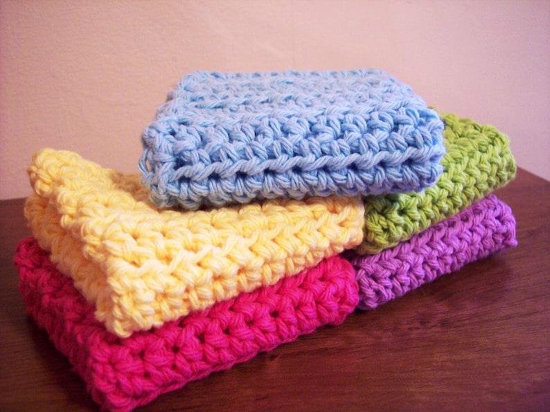 Simple Crochet Dish Cloth Pattern Crochet Dish Cloth Pattern Etsy