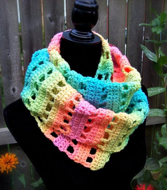 Easy Infinity Scarf Crochet Pattern Crochet Scarf Pattern Etsy