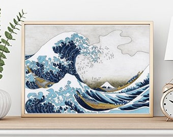 Japanese waves etsy