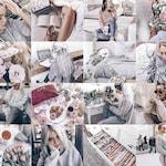 3 Mobile Lightroom Presets MOONSTONE Instagram Blogger Presets, Lightroom Mobile Preset, Pastel Lifestyle Presets