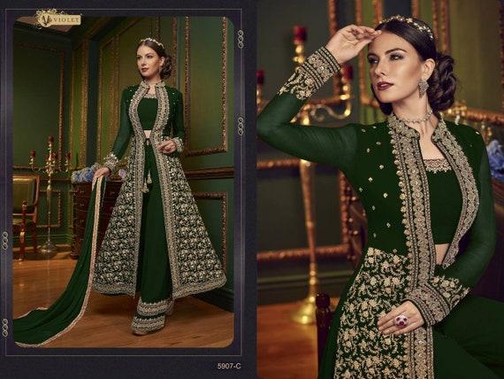 Green Colore Designer Wedding Dress Indian Style Salwar Kameez Etsy