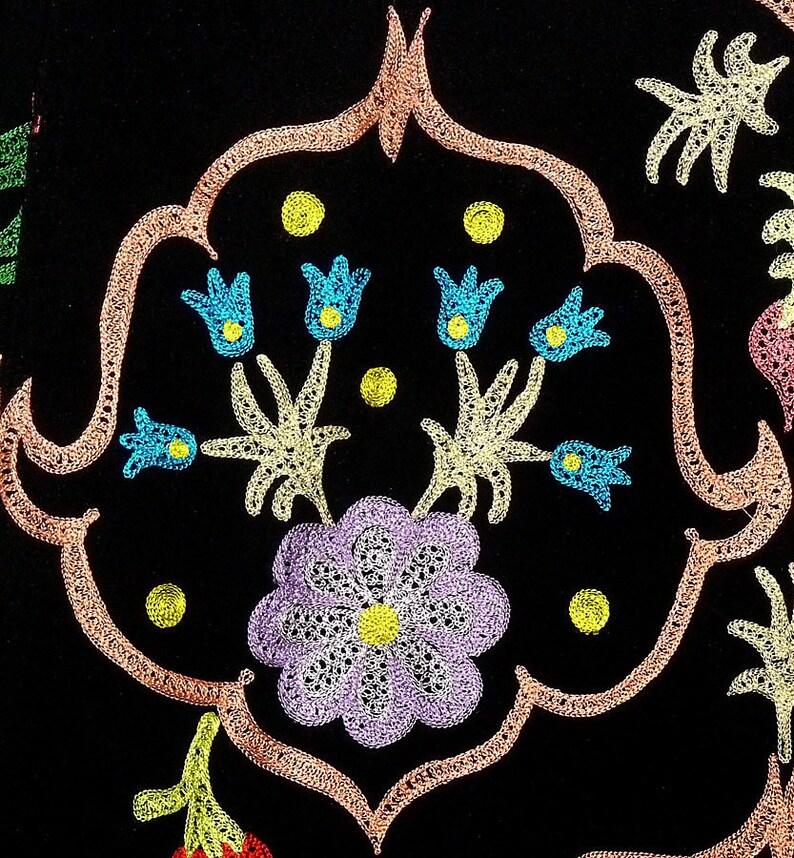 Unisex Turkish Style Handmade Silk Embroidered Uzbek Tajik Chapan Light Coat Kaftan Robe From Uzbekistan Author/'s Work Ready To Wear 019