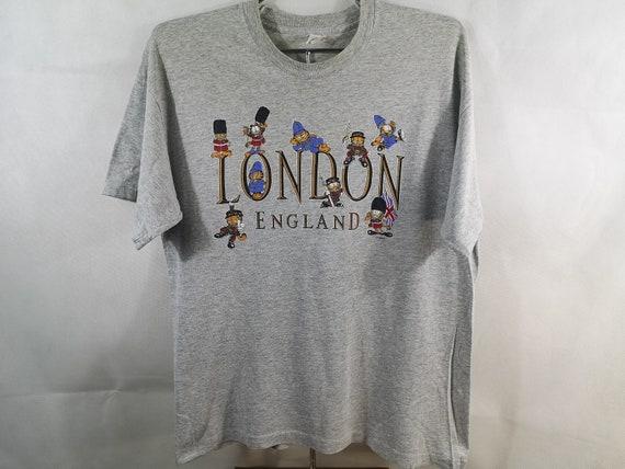 Vintage Garfield London England 90s T-Shirt Size L