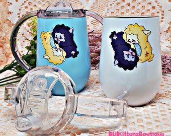 Twin Lamb Opposites Attract Adult Sippy Cup ABDL / DDLG