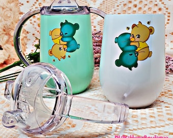 Twin Bear Opposites Attract Adult Sippy Cup ABDL / DDLG