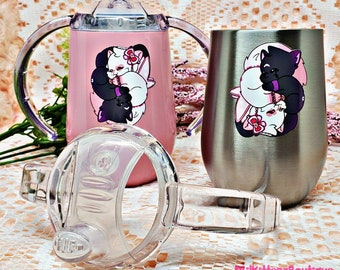 Twin Kitty Opposites Attract Adult Sippy Cup ABDL / DDLG