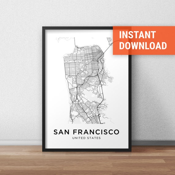 San Francisco Map Print, San Francisco Map Download, City Map San  on san francisco street cleaning map, san francisco street map 1960, san francisco city map online, san francisco sacramento street map, san francisco tourist street map, new york tourist map printable, san francisco tourist map printable, san francisco street parking map, san francisco street view,