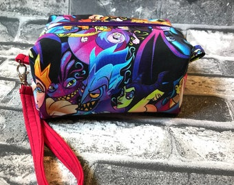 Small villains zippered bag maleficent ursula parkbounding disneybounding