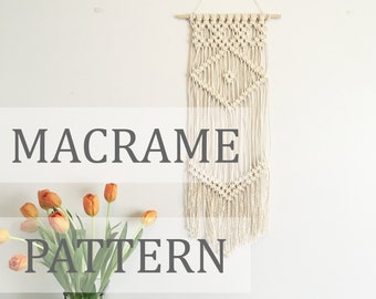 JANE Pattern \\ Macrame Wall Hanging Pattern / Macrame Pattern / Small Macrame Pattern