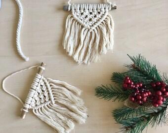 B I R C H \\ Macrame Ornament / Macrame Ornaments / Christmas Ornaments / Boho Christmas Decor / Boho Ornament / Home Decor