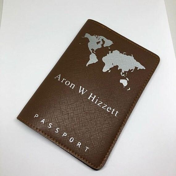 Personnalisé LILAC Femmes Aquarelle initial Passport Cover vacances accessoire