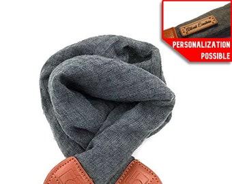 Camera Strap Shoulder Neck Soft fabric Scarf DSLR / Nikon / Canon / Sony Photo Carrying Strap / Camera Strap Gray