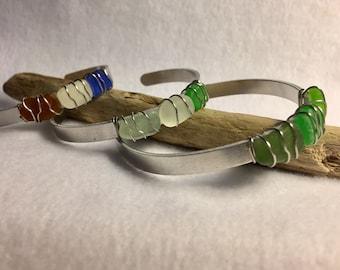 Wire Wrap Cuff Bracelet
