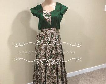 Kalmakari silk long gowns