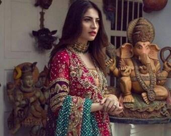 Gul e Rana, Beautiful Pakistani/Indian /Bangali Bridal Dress   Gharara   lehenga