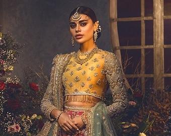 NILOFER Traditional Bridal Wear from Anaya by Kiran Chaudhry   Pakistani Bridal Wear dress   Gharara   lehenga