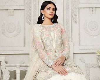 PRICILLA - Anaya by Kiran Chaudhry   Pakistani Bridal dress   Gharara   lehenga