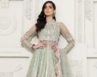 LUCILLE- Anaya by Kiran Chaudhry   Pakistani Bridal dress  Gharara  lehenga
