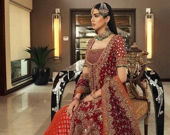 Barat, Reception Bridal Dress for Pakistani /Indian /Bangali brides   Gharara   lehenga