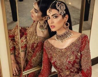 Pakistani Bridal dress for Barat, and Reception, Pakistani /Indian /Bangali