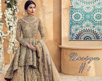Pakistani Bridal Outfit for Engagement/ Nikkah/ Valima Reception for Pakistani/ Indian/ Bangali Brides.