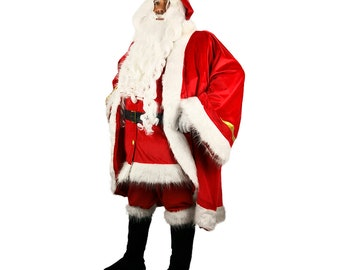 Flanelle Santa Claus Costume complet Père Noël Costume M//L