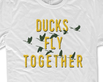 994de3e74 Ducks Fly Together Mighty Ducks 90s Movie T-shirt