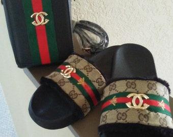 Designer Inspired GGs Sandal Slides
