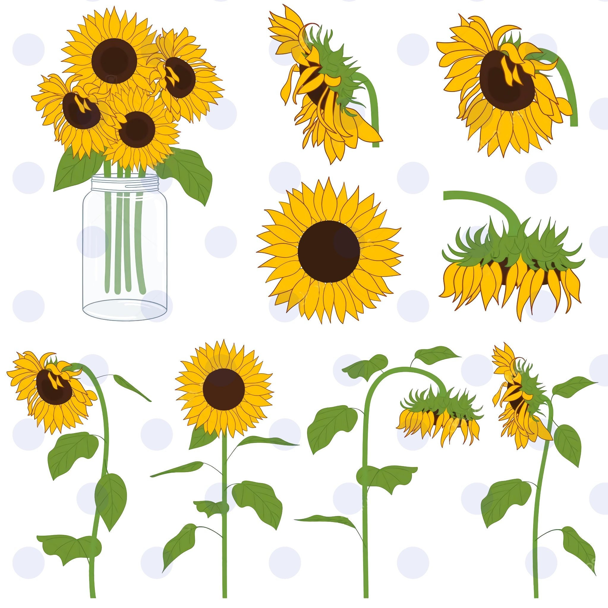Free Svg Sunflower Vector Sunflower File For Cricut - King ...