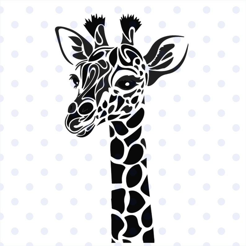Giraffe Svg Animal Svg Giraffe Clipart Zentangle Giraffe