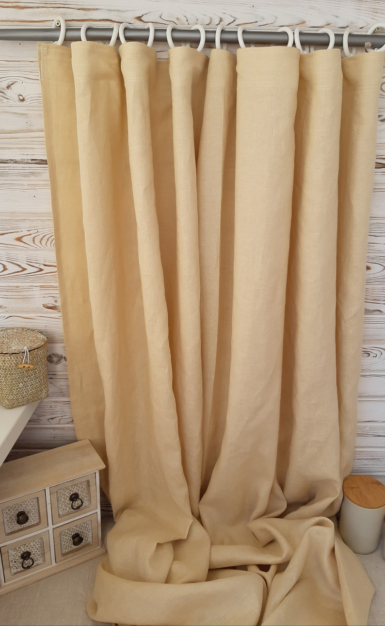 farmhouse curtains panels rustic curtains Kitchen curtains country curtains linen cafe curtains linen curtains panel