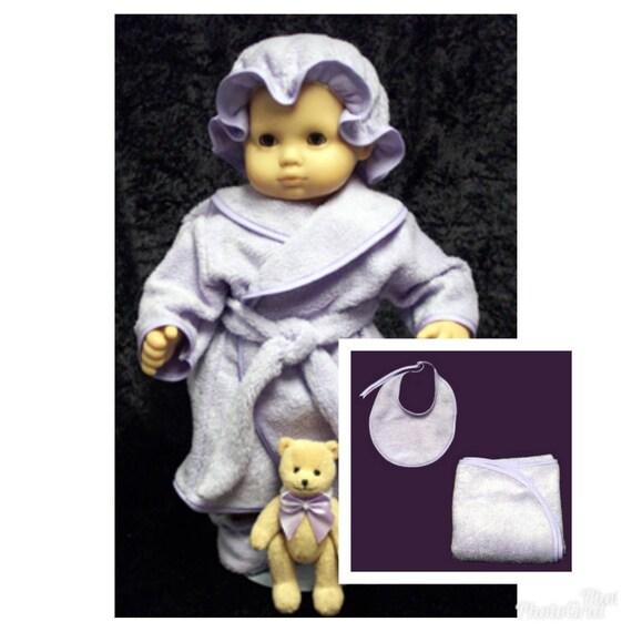 "Lee Middleton Doll Bear Bathrobe For 19/"" So Cute!!"