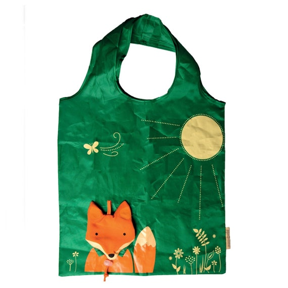 Sass And Belle Fabric Fox Coin Purse Green Colour Cute//quirky//gift//christmas