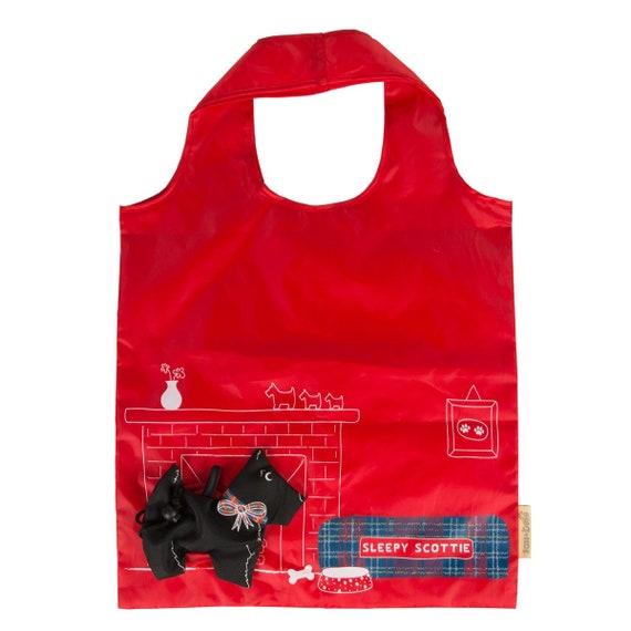 Sass et Belle Scottie chien pliable sac à provisions réutilisable