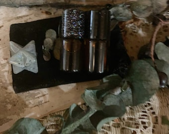 Witch Flight.. A pouch of labradorite and potions