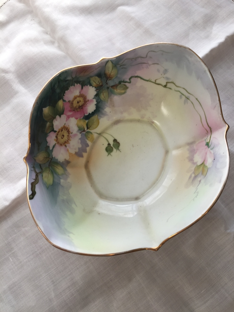 Hand painted porcelain nippon bowl