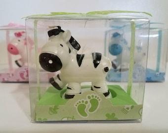 Baby Zebra Candle Favor, Baby Shower Favor