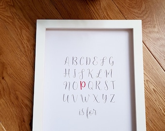 Baby Name Announcement Print