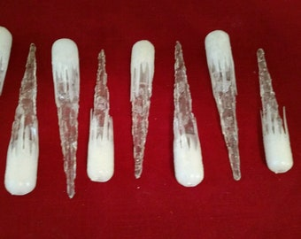 8 Vintage Christmas Tree icicle mini light cover replacements - plastic