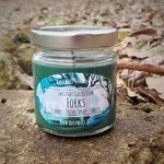 Twilight Collection Forks Glitter Soy Candle 3.5oz (Rainwater Ocean Spray Forests) *Inspired by Twilight Series by Stephanie Meyer*