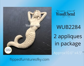 """Pack of TWO Mermaids WUB 2284 approx 10.6"""" x 4.5"""""""