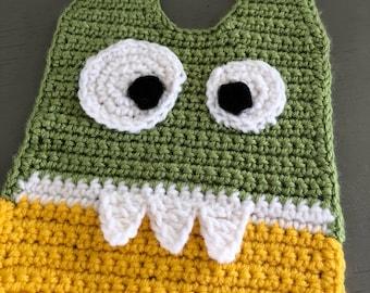 Crocheted Monster Baby Bib
