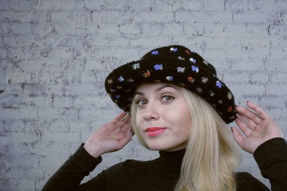 Ladies Crochet Hat Womens Winter Hats Brimmed Multicolor  e74189b715