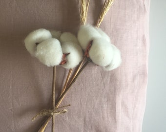Pink poppy linen /cotton pillowcase