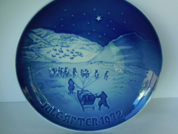 Christmas In Greenland.Vintage Bing And Grondahl Christmas In Greenland Plate 1972 Christmas 9072 Made In Denmark Copenhagen Porcelain