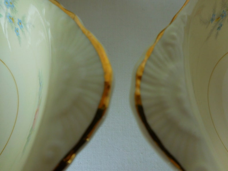 Vintage Lug BowlsHomer Laughlin Nautilus Ferndale Pattern Eggshell China L49N5Rare bowls Perfect ConditionSet of Four