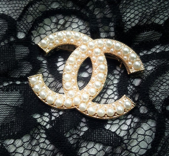 Cc Pin Brooch Pearls by Etsy