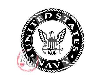 Navy logo SVG, Navy Anchor, US Navy, Navy cut file, USA, shirt design, cut file, United States Navy, Silhouette Cameo, Cricut, dxf,jpg,pdf
