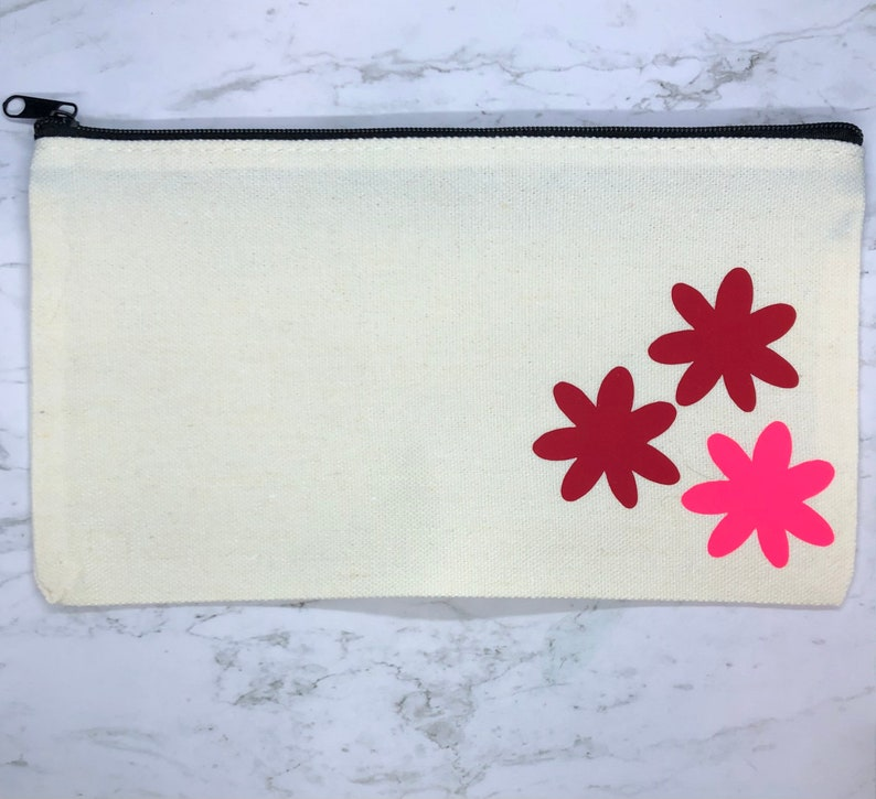 Make Up Bag Mother\u2019s Day Gifts For Mom Travel Toiletry Case Pencil Case Gifts For Girls Customized Flower Zipper Pouch