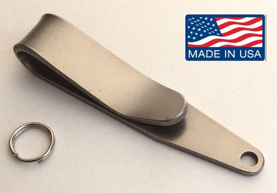 Stainless steel Pocket Suspension Clip EDC Keys Tools Keychain Load Holder Good